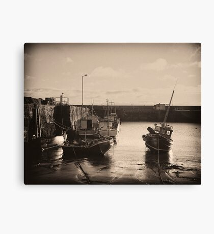 Gourdon Harbour Canvas Print