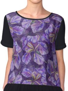 Iris watercolor pattern Chiffon Top