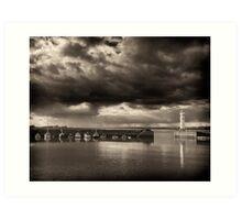 Approaching Storm, Newhaven Edinburgh Art Print
