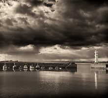 Approaching Storm, Newhaven Edinburgh by Paul  Lonsdale