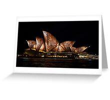 Bark Sails - Sydney Vivid Festival Greeting Card