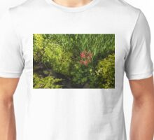 Gardening Delights - Miniature Creek with Red Primrose Unisex T-Shirt