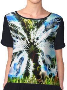 Exploding Spikes and Hearts Chiffon Top