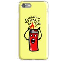 my head is on Fire iPhone Case/Skin