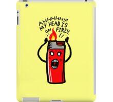 my head is on Fire iPad Case/Skin
