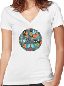 Funny cemetery Women's Fitted V-Neck T-Shirt