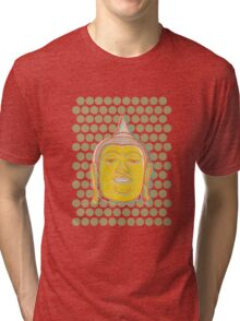 Buddha's Smile Zen Pop Art Tri-blend T-Shirt
