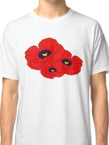 Poppy White Classic T-Shirt