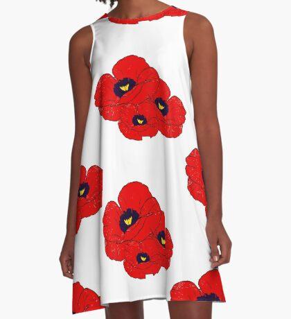 Poppy White A-Line Dress
