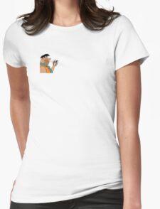Fred Flintstone Smoking Womens Fitted T-Shirt