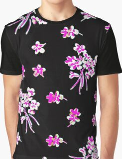 Pink flower Graphic T-Shirt