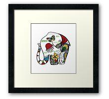 Peace Elephant Framed Print