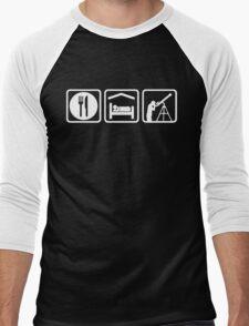 Funny Eat Sleep Astronomy Men's Baseball ¾ T-Shirt