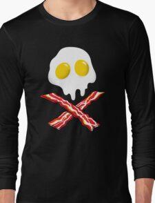 Eggs Bacon Skull Long Sleeve T-Shirt