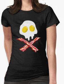 Eggs Bacon Skull Womens Fitted T-Shirt