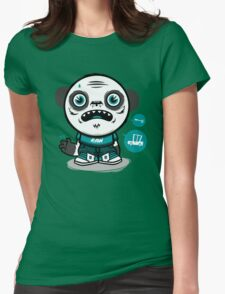 panda zombie Womens Fitted T-Shirt