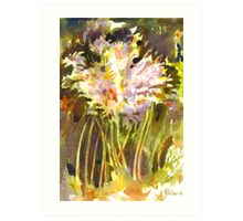 Surprise Lilies II A Portrait Art Print