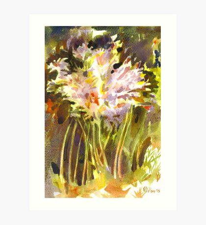 Surprise Lilies II A Portrait Art Print