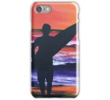 """Sunrise surfer"" iPhone Case/Skin"