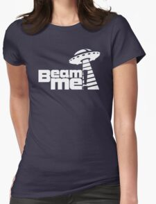 Beam me up V.3.1 (white) Womens Fitted T-Shirt