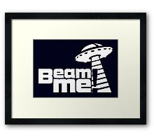 Beam me up V.3.1 (white) Framed Print