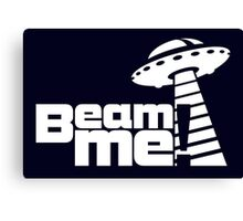 Beam me up V.3.1 (white) Canvas Print