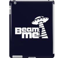 Beam me up V.3.1 (white) iPad Case/Skin