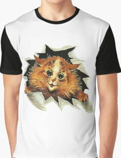 "Louis Wain (1860-1939) - ""Cat In The Ice"" Graphic T-Shirt"