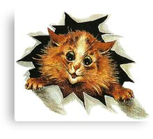 """Louis Wain (1860-1939) - """"Cat In The Ice"""" Canvas Print"""