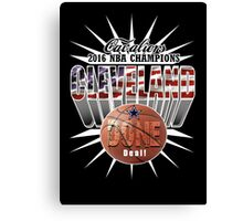 cleveland champions Canvas Print