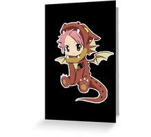 Natsu Dragneel (chibi) Greeting Card