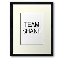 Team Shane Framed Print