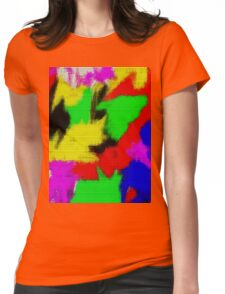 oil pastel Womens Fitted T-Shirt