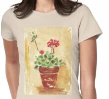 Why grow geraniums in containers? Womens Fitted T-Shirt
