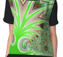 Jungle pattern Chiffon Top