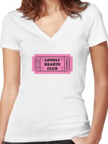 Lonely Hearts Club  Women's Fitted V-Neck T-Shirt
