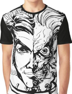 Harvey Dent/Two-Face Illustration Graphic T-Shirt
