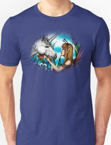Fairy and Unicorn in Color T-Shirt