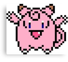 8 bit Clefairy Canvas Print