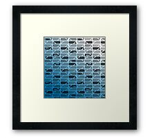 Ombre Whales Framed Print