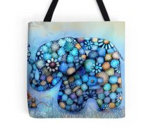 Little Blue the Patchwork Elephant Tote Bag