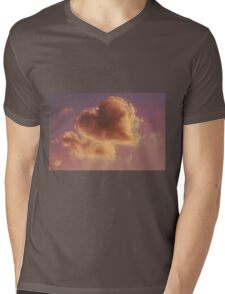 cloudy sky heart Mens V-Neck T-Shirt