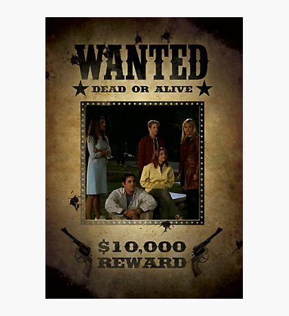 Buffy Scooby Gang Wanted Photographic Print