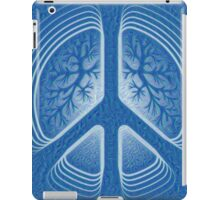 Blue Hippy Peace Sign iPad Case/Skin