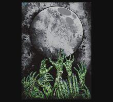 zombie hands under moonlight by HeartlessArts