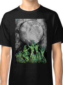 zombie hands under moonlight Classic T-Shirt