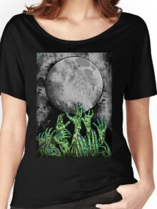 zombie hands under moonlight Women's Relaxed Fit T-Shirt
