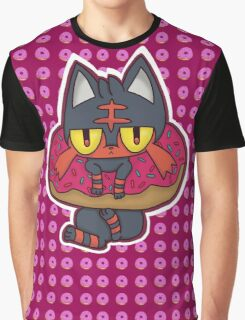 Litten Donut Graphic T-Shirt