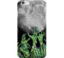 zombie hands under moonlight iPhone Case/Skin