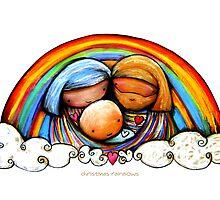 Christmas Rainbows Nativity  by © Cassidy (Karin) Taylor